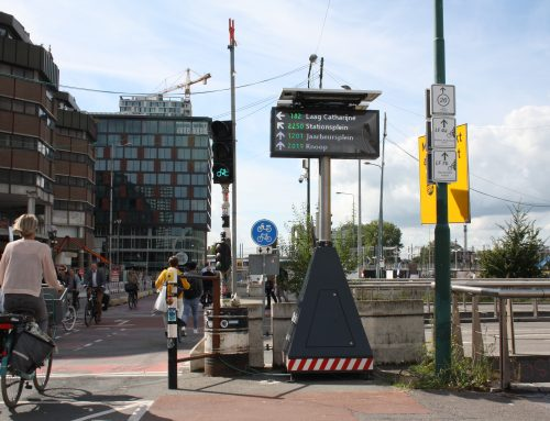 City DRIPs: LUMIGUIDE's newest mobile digital sign in the city of Utrecht